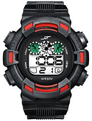 Недорогие -Муж. электронные часы Цифровой Спортивные Pезина Черный / Белый / Зеленый 30 m Защита от влаги Календарь Новый дизайн Цифровой На открытом воздухе - Черный / зеленый Красный Светло-Зеленый / Два года