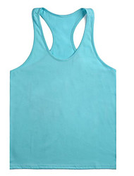 cheap -Men's Tank Top Solid Colored Basic Sleeveless Daily Tops Cotton Active White Black Blue