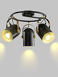 Недорогие -3-Light 44 cm Люстры и лампы Металл Круглый Электропокрытие / Окрашенные отделки Modern 110-120Вольт / 220-240Вольт