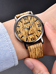 cheap -Men's Sport Watch Quartz Modern Style Stylish Leather Black / Brown / Khaki 30 m Chronograph Creative Luminous Analog Casual Minimalist - Yellow Brown Khaki Two Years Battery Life