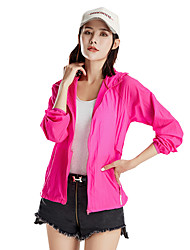 cheap -Women's Cycling Jacket Bike Windbreaker Top Windproof Breathable Moisture Wicking Sports Solid Color Polyester Fuchsia / Blue / Violet Mountain Bike MTB Clothing Apparel Regular Fit Bike Wear