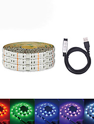 cheap -5M USB LED Light Strips RGB Tiktok Lights DC 5V LED Strip 5050 Tape TV Background Lighting DIY Home Decorative Lamp With MINI 3Key Controller Set