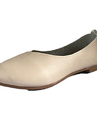 cheap -Women's Flats Flat Heel Round Toe PU Summer Dark Brown / White / Beige