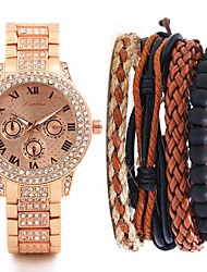 cheap -Men's Steel Band Watches Quartz Stainless Steel Silver / Gold / Rose Gold No Chronograph Cute Creative Analog Luxury New Arrival - Gold Silver Rose Gold One Year Battery Life