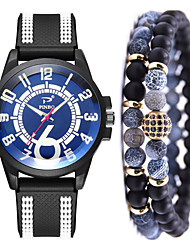cheap -Men's Sport Watch Quartz Silicone Black No Chronograph Cute New Design Analog Outdoor New Arrival - Black / Yellow Black / White Black / Blue One Year Battery Life