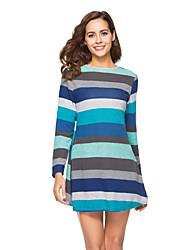 cheap -Women's Maternity Above Knee Sheath Dress Blue M L XL