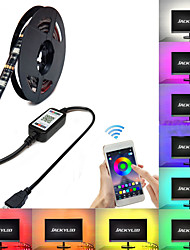 cheap -BRELONG RGB Smart Bluetooth APP Music Induction Waterproof Light Strip 1 pc
