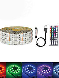 cheap -Waterproof LED Light Strips USB DC 5V 5M 5050 RGB Tiktok Lights Tape TV Background Lighting DIY Home Decorative Lamp With 44Key Controller Set