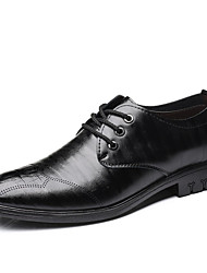 cheap -Men's Comfort Shoes PU Summer Oxfords Black / Brown / Party & Evening / Party & Evening