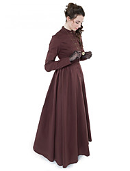 cheap -Duchess Victorian Ball Gown 1910s Edwardian Dress Party Costume Women's Costume Brown Vintage Cosplay Masquerade Long Sleeve Floor Length Long Length Ball Gown Plus Size