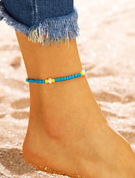 cheap -Women's Ankle Bracelet Pearl Anklet Jewelry Blue For Party Daily Street Holiday Festival