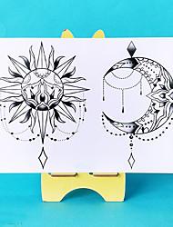 Недорогие -3 шт. Водонепроницаемый временные татуировки наклейки сексуальная луна солнце поддельные татуировки флэш татуировки татуировки наклейки на шею бедра ноги для девушки женщины