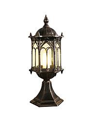 cheap -Outdoor Waterproof Black Aluminum Glass Post Light Column Headlight for Courtyard Garden Landscape Villa Lighting
