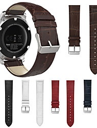 cheap -Genuine Leather Wristband Wrist Strap Watch Band for Garmin Fenix Chronos / Approach S40 Smart Watch Bracelet Accessories