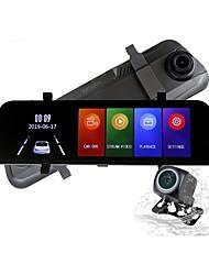 abordables -ziqiao h17k full hd streaming médias rétroviseur enregistreur de conduite 170 degrés grand angle sprint caméra vision nocturne g-capteur surveillance surveillance voiture enregistreur vidéo