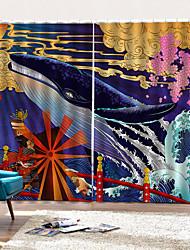 Недорогие -Горячая внешняя торговля современный дизайн домашнего декора окна занавес 3d художественная печать высокое качество водонепроницаемый затемненные занавески для душа