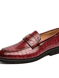 cheap -Men's Formal Shoes PU Spring & Summer / Fall & Winter Casual / British Loafers & Slip-Ons Black / Red