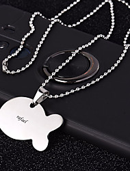 cheap -Personalized Customized Dog Tags Classic Gift Daily 1pcs Silver