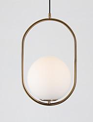 cheap -1-Light 20 cm Pendant Light Glass Glass Globe Antique Brass / Electroplated Nordic Style 110-120V / 220-240V