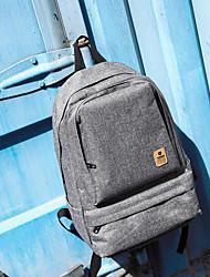 cheap -Large Capacity Oxford Zipper School Bag Solid Color Daily Black / Dark Grey / Wine / Fall & Winter