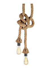 cheap -Hemp Rope Pendant Light Country Hanging Lighting Fixtures Pendant Light Ambient Light Hemp Rope New Design
