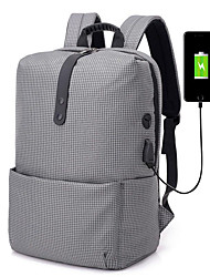 cheap -Large Capacity / Breathable School Bag Unisex Oxford Zipper Solid Color Daily / Office & Career Dark Grey / Black / White / Black / Blue / Gray / Fall & Winter