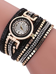cheap -Women's Wrap Bracelet Watch Quartz Modern Style No Adorable Analog Analog - Digital Sparkle Fashion - Black Brown White Two Years Battery Life