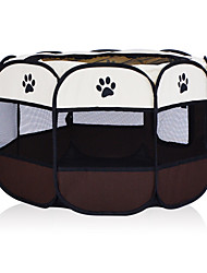 cheap -Dog Cages Bed Foldable Casual / Daily Solid Colored Fabric Pink Brown Light Blue