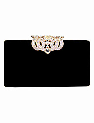 cheap -Women's Bags Velvet Evening Bag Crystals Solid Color Party Event / Party Birthday Wine Black Blue Purple