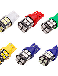 cheap -10PCS T10 led w5w 2835 20 SMD 194 168 W5W LED Light Bulb White Blue Red Green License Plate Lamp Width Lights 20 LED 12v