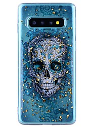 cheap -Case For Samsung Galaxy Note 9 / Note 8 Shockproof / Transparent / Pattern Back Cover Skull Soft TPU