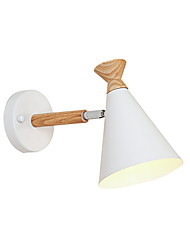 cheap -Wall Lamp Nordic Simple Wall Sconce Head Adjustable Iron Macaron Bedroom Night Light Reading Light Wall Mount Cone Shade