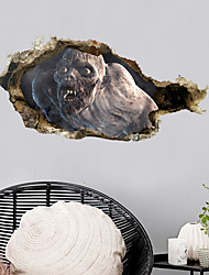 cheap -Halloween Horror Zombies Wall Stickers - Words &ampampamp Quotes Wall Stickers Characters Study Room / Office / Dining Room / Kitchen