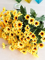 cheap -1Pc Fake Flower Bud Flower Decoration Home Decoration Shooting Props Flower Arrangement Accessories 24 Head Gerbera
