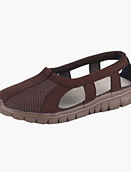 cheap -Men's Comfort Shoes Mesh Summer Vintage Sandals Breathable Color Block Yellow / Gray / Coffee