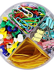 cheap -1 Size Vinyl-Coated Desk Accessories Office School supplies (Include Paper Clips,Thumbtack,Rubber band,Elliot folder)