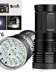 cheap -EX12 LED Flashlights / Torch Waterproof 9600 lm LED LED 12 Emitters Manual 3 Mode Waterproof Professional Anti-Shock Easy Carrying Durable Camping / Hiking / Caving Police / Military Cycling / Bike