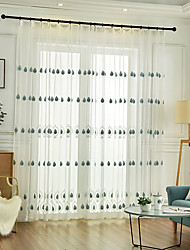 abordables -rideau brodé chambre d'enfants salon deux chambres salle à manger