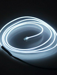 cheap -2M Flexible Neon Light Car EL Wire Rope Tube LED Strip Waterproof Party Decor Lamp With 12V Controller