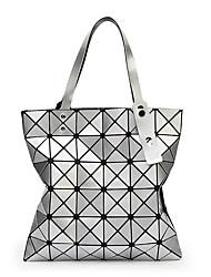 cheap -Women's Glitter / Zipper PU(Polyurethane) / PU Tote Geometric Pattern Black / White / Blushing Pink / Fall & Winter