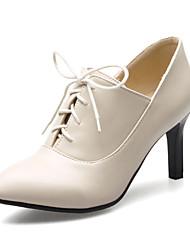 cheap -Women's Heels Stiletto Heel PU(Polyurethane) Fall / Spring & Summer Black / Green / Red