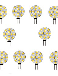 cheap -10pcs 2 W LED Bi-pin Lights 200 lm G4 12 LED Beads SMD 5050 Warm White White 12 V