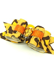 cheap -Dogs Cats Ornaments Hair Accessories For Dog / Cat Bowknot Decoration Geometric Metalic Polyester Rubber Yellow