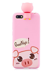cheap -For HUAWEI Y5 2018 3D Cute Coloured Painted Animal TPU Anti-scratch Non-slip Protective Cover Back Case