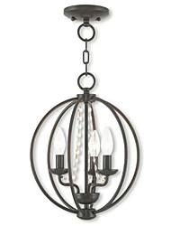 cheap -QINGMING® 3-Light 30 cm Mini Style Chandelier Metal Mini Electroplated / Painted Finishes Retro / Country 110-120V / 220-240V
