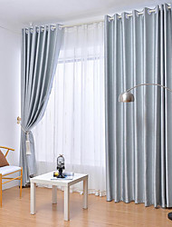 cheap -Blackout Two Panels Curtain Living Room   Curtains / Embossed