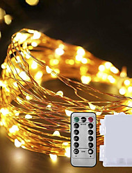 cheap -10M 100 LEDs Waterproof Battery Box String Light with Remote Control for Christmas Decoration