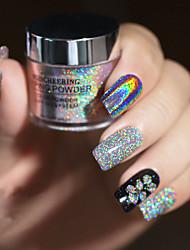 abordables -1 boîte ongles paillettes paillettes mixte hexagone rond symphonie paillettes pigment holographique nail art poudre poussière bricolage manucure décorations