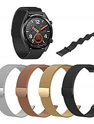 abordables -bracelet milanese en acier inoxydable bracelet de montre pour huawei montre gt / montre 2 bande pro