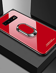 cheap -Phone Case For Samsung Galaxy Back Cover S9 S9 Plus S8 Plus S8 S10 S10 + Galaxy S10 E Shockproof with Stand Ring Holder Solid Colored Hard TPU Tempered Glass